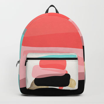 Modern minimal forms 1 Backpack by naturalcolors