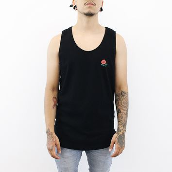 Rose Tank Top (Black)