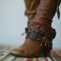 Boot Bracelet Shoe Jewelry Leather Boot Charm Bohemian Cuffs Decoration - Change Boot Style Layer and Style your Boots