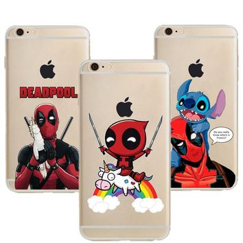 Deadpool Dead pool Taco Riding Unicorn  Soft Silicone TPU Phone Case For iPhone X XS MAX Harley Quinn Cover For iPhone 5 5S SE 6 6S 7 8 Plus AT_70_6