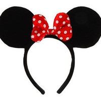 MINNIE MOUSE EARS-MINNIE MOUSE HEADBAND-MINNIE MOUSE COSTUME ACCESSORY-NEW!