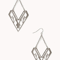 Clear Cut Dangle Earrings