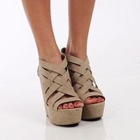 The Bethany Wedge, Taupe