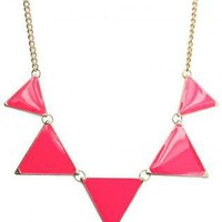 Neon Triangle Enamel Necklace