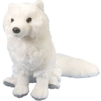 "Wild Republic Cuddlekin Arctic Fox 12"" Plush"