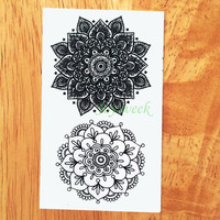Waterproof Temporary Tattoo Sticker sexy lotus mandala totem tattoo Water Transfer flash tatoo fake tattoo for girl women