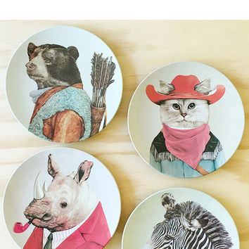 MELAMINE ANIMAL PLATES