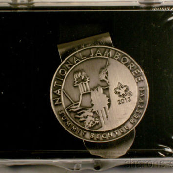 Boy Scout 2013 National Jamboree Money Clip Summit Bechtel Reserve NJ Silver BSA