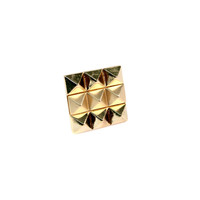 Gold Pyramid Stone Ring