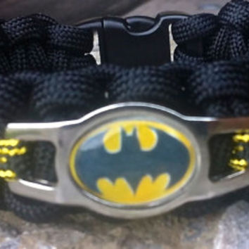 BATMAN Shoelace Charm 550 Paracord Survival Band
