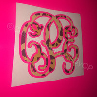 Two Layer Monogram Decal - Two Colors - Perfect for Yeti's, Cars, Laptops and Much More!