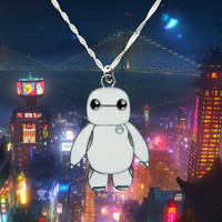 Disney Marvel Big Hero 6. sterling silver necklace with Baymax charm  Free UK Postage!