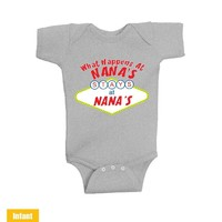 What Happens At Nana's Stays At Nana's - Infant Lap Shoulder Bodysuit