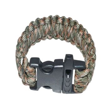 Paracord Survival Bracelet With Survival Whistle Fits 7-9 Inch Wrists,Camouflage