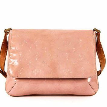 ICIKHI2 Louis Vuitton Dusty Rose Leather Monogram Purse