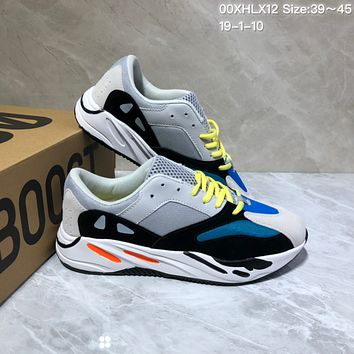 KUYOU A425 Kanye West x Adidas Yeezy Runner Boost 700 Fashion Running Shoes Gray Blue