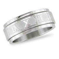 Stainless Steel Spinning Ring with Engraving in Stainless Steel