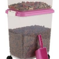 IRIS Airtight Pet Food Container Combo Kit, Pink/White