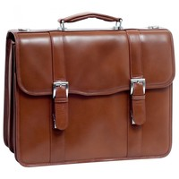 McKleinUSA FLOURNOY Leather Double Compartment Laptop Case