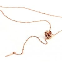 Mr. Kate | Rose-ary Necklace. Yellow or Rose Gold.