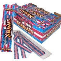 Airheads Extremes Sweetly Sour Belts Bluest Raspberry 18pk