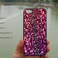 Hot pink,stars shine,water proof,iPhone 5s case,iPhone 5c case,Samsung Galaxy S3 S4,iPhone 4 Case,iPhone 5 Case,iPhone 4S case-99