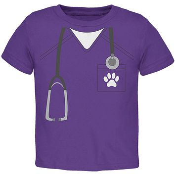Halloween Vet Veterinarian Scrubs Costume Toddler T Shirt