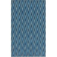 Diego Blue Chevron Outdoor Rug