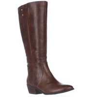 Dr. Scholl's Brilliance Wide Calf Riding Boots, Whiskey, 10 US / 40 EU