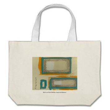 Soft And Bold Rothko Inspired Abstract Signed Large Tote Bag