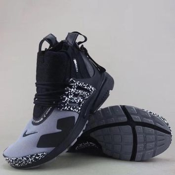 Nike Air Presto Mid Acronym Fashion Casual High-Top Sneakers Sport Shoes-1