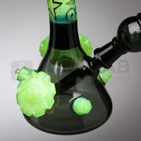 Zach Puchowitz Glass - Black & Slyme Mini Tube with Sketch Art