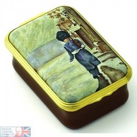 The Guardsman by Winston Churchill Enamel Box , Enamels , Paintings