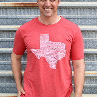 UNISEX Texas Towns Tee- Red