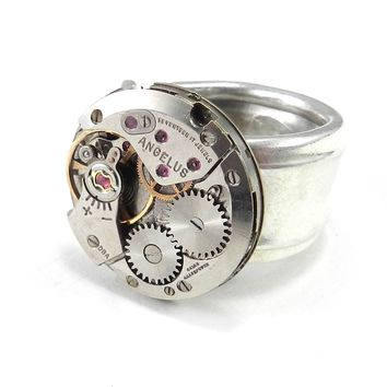 Steampunk Ring - Mechanical Vintage Spoon Ring - Size 4