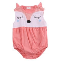 Summer Spring 2017 Cute Toddler Baby Boys Girls Newborn Jumpsuit Bodysuit Outfits 0-24M Clothes Kid One-Pieces