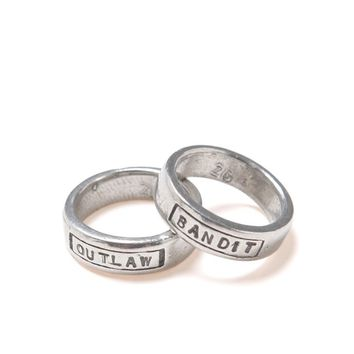 The 2 Bandits Bandit Outlaw Ring Set - Womens Jewelry - Silver - One