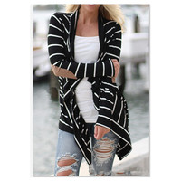 Fashion Loose Cotton Cardigan Long Sleeve Sweater For Women Big Yards Coats = 1704139460