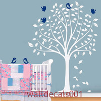 Kids Wall Decals wall stickers Tree with Birds by walldecals001