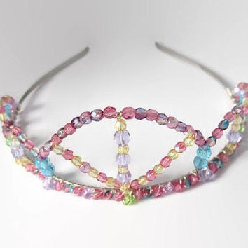 Pastel Tiara, Hime Lolita, Pastel Goth, Costume Crown, Princess, Queen, Bridal, Dress Up, Sweet, Cosplay, Adult