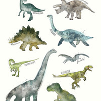 Dinosaurs Art Print by Amy Hamilton