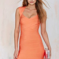 Nasty Gal With the Bandage Dress - Orange