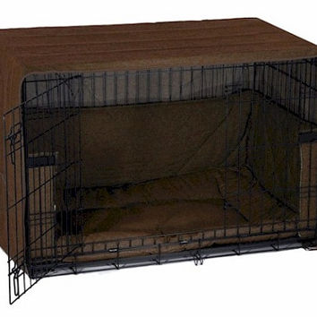 Side Door Dog Crate Cover - Large/Coco Brown