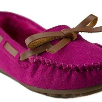 Happy Kids Girls KM-1 Warm Fur Lined Winter Moccasin Flats Shoes