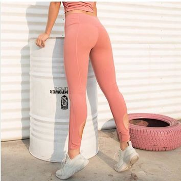 High Waist Solid Color Yoga Pants soft Fabric fitness pant Women's Running Workout Leggings Sport pant Shapewear Black Trousers