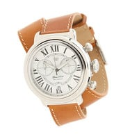 Glam Rock 40mm Stainless Steel Chronograph Watch with Brown Leather Double Wrap Strap - GR77132 Brown - Zappos.com Free Shipping BOTH Ways