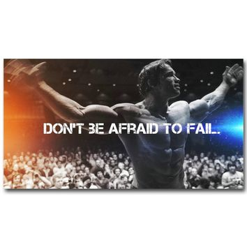 Arnold Schwarzenegger Bodybuilding Motivational Quote Art Silk Poster Print Fitness Inspirational Picture for Room Wall Decor 39