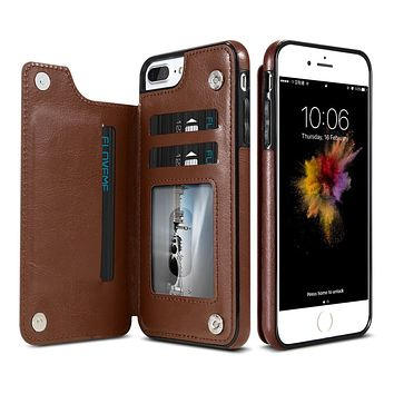 Luxury Leather Wallet Card Holder Case  | iPhone X - 6