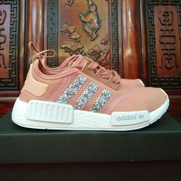 Adidas NMD individuality Sequins Fashion Trending Women Leisure Running Sports Shoes H