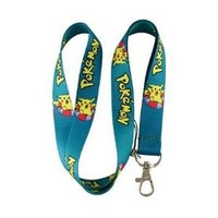 Pokemon Pikachu Green Blue Keychain Lanyard